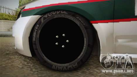 Skoda Octavia Police para GTA San Andreas vista hacia atrás