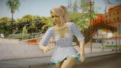 Marie Rose Skin in White Dress para GTA San Andreas