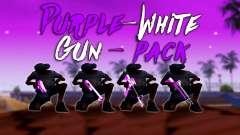 Iridiscente De Color Rosa Y Blanco Pack De Armas para GTA San Andreas