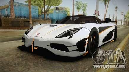 Koenigsegg Agera RS v3 para GTA San Andreas