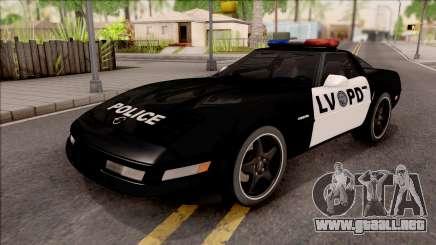 Chevrolet Corvette C4 Police LVPD 1996 para GTA San Andreas