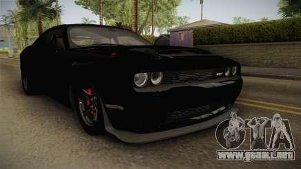 Dodge Challenger 2017 Drag para GTA San Andreas