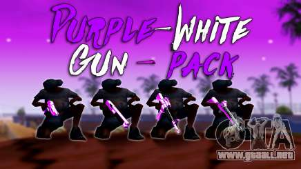 Iridiscente De Color Rosa Y Blanco Pack De Armas para GTA San Andreas