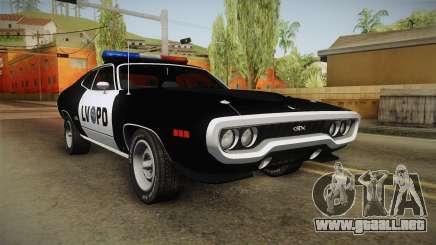 Plymouth GTX Police LVPD 1972 para GTA San Andreas