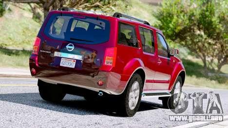 GTA 5 Nissan Pathfinder 2007 vista trasera