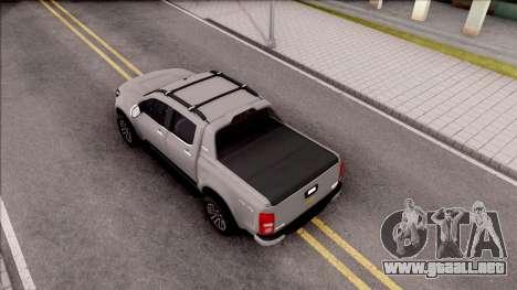 Chevrolet S-10 High Country 2017 para GTA San Andreas vista hacia atrás