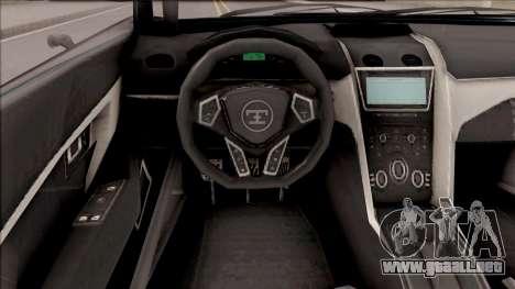 Truffade Nero from GTA V para GTA San Andreas vista hacia atrás