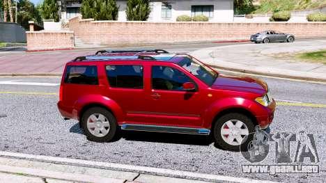 GTA 5 Nissan Pathfinder 2007 vista lateral izquierda
