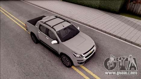 Chevrolet S-10 High Country 2017 para la visión correcta GTA San Andreas