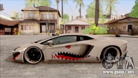 Lamborghini Aventador Shark New Edition White para GTA San Andreas left