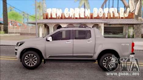 Chevrolet S-10 High Country 2017 para GTA San Andreas left