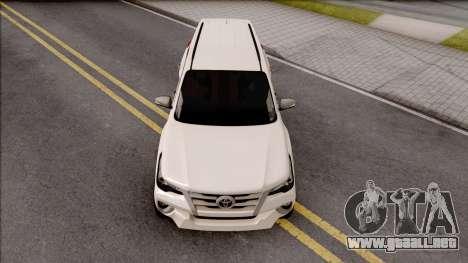 Toyota Forturner 2017 para visión interna GTA San Andreas