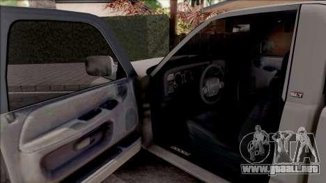Dodge Ram 2500 1994 para visión interna GTA San Andreas