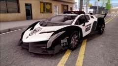 Lamborghini Veneno Police Las Venturas para GTA San Andreas