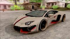 Lamborghini Aventador Shark New Edition White para GTA San Andreas