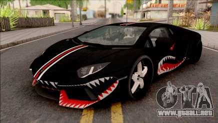 Lamborghini Aventador Shark New Edition Black para GTA San Andreas