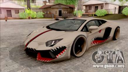 Lamborghini Aventador Shark New Edition White para GTA San Andreas