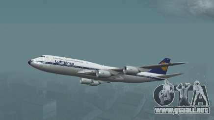 Lufthansa 747-8i Retro Librea para GTA San Andreas
