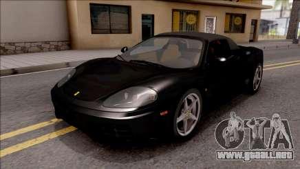 Ferrari 360 Spider US-Spec 2000 IVF para GTA San Andreas