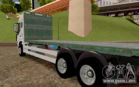 Iveco Stralis Camión SIN EXTRAS para GTA San Andreas vista posterior izquierda