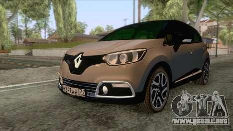 Renault Captur para GTA San Andreas vista posterior izquierda