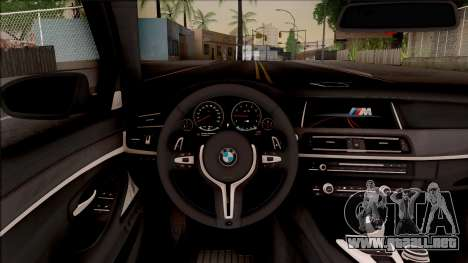 BMW M5 F10 Competition Edition para visión interna GTA San Andreas