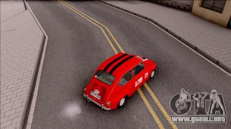 Zastava 750c para GTA San Andreas vista hacia atrás
