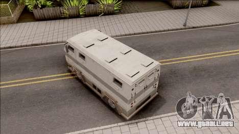 GTA EFLC HVY Brickade para GTA San Andreas vista hacia atrás