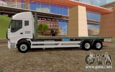 Iveco Stralis Camión SIN EXTRAS para GTA San Andreas left