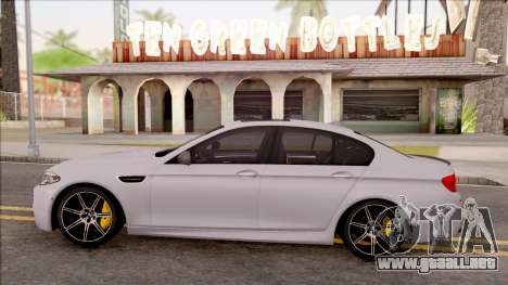 BMW M5 F10 Competition Edition para GTA San Andreas left