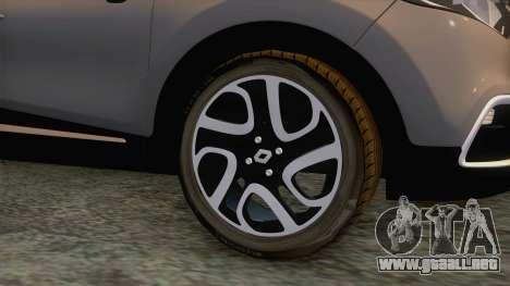 Renault Captur para GTA San Andreas vista hacia atrás