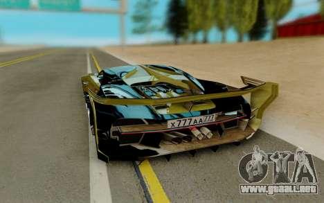 Bugatti Vision G para GTA San Andreas vista posterior izquierda