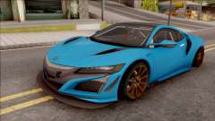 Acura NSX 2017 Stock Beta para GTA San Andreas
