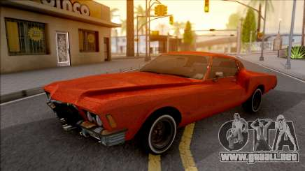 Buick Riviera 1972 Boattail Lowrider Red para GTA San Andreas