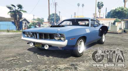Playmouth Hemi Cuda (BS) 1971 [add-on] para GTA 5