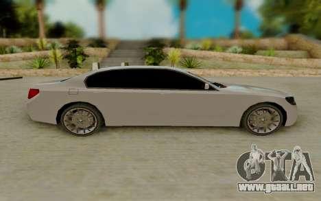 BMW 7 Series 750Li xDrive para GTA San Andreas left