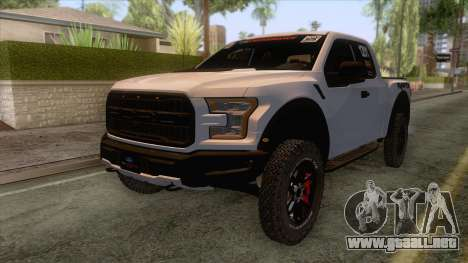 Ford Raptor 2017 Race Truck para GTA San Andreas vista posterior izquierda