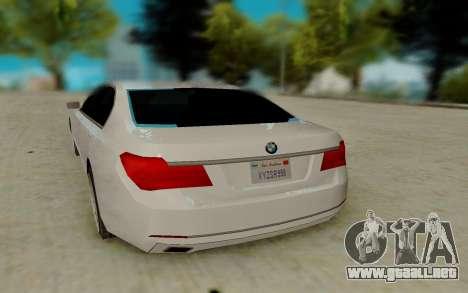 BMW 7 Series 750Li xDrive para la visión correcta GTA San Andreas