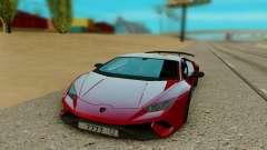 Lamborghini Huracan rojo para GTA San Andreas