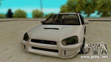 Subaru Impreza белый para GTA San Andreas
