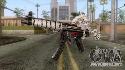 MP5 Tiger Skin para GTA San Andreas