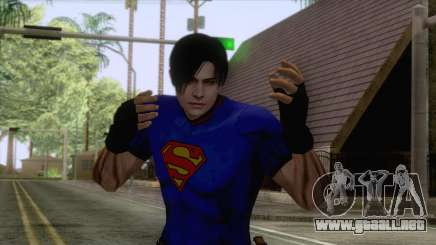Leon Superman Cloth Skin para GTA San Andreas