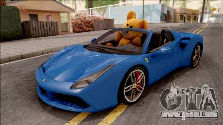 Ferrari 488 Spider 2016 v2 para GTA San Andreas