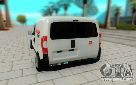 Fiat Fiorino para GTA San Andreas vista hacia atrás