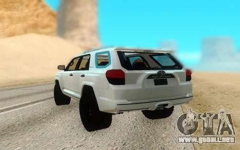 Toyota 4Runner para GTA San Andreas vista posterior izquierda