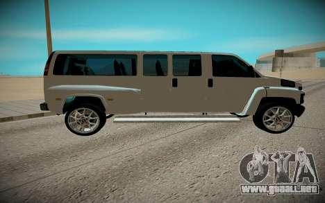 GMC Savana C5500 para GTA San Andreas vista posterior izquierda