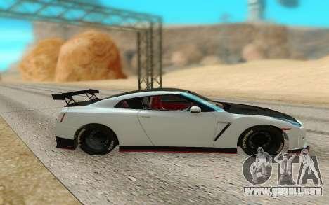 Nissan GTR Nismo para GTA San Andreas left