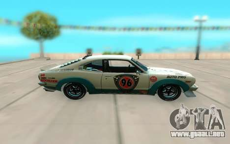 Mazda RX 3 Savanna para GTA San Andreas left