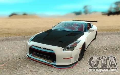 Nissan GTR Nismo para la visión correcta GTA San Andreas