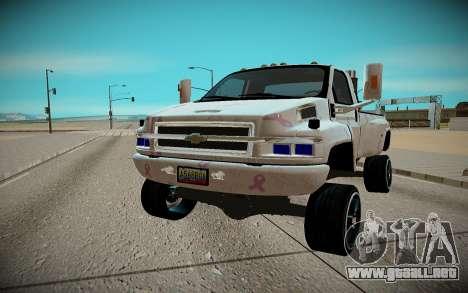 Chevrolet Kodiak C4500 para GTA San Andreas vista hacia atrás